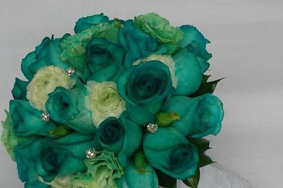 Bouquet verde jade