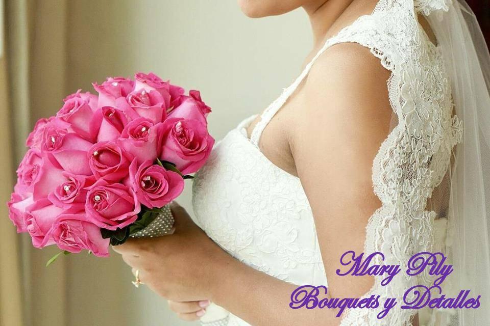 Bouquet en rosas fucsia