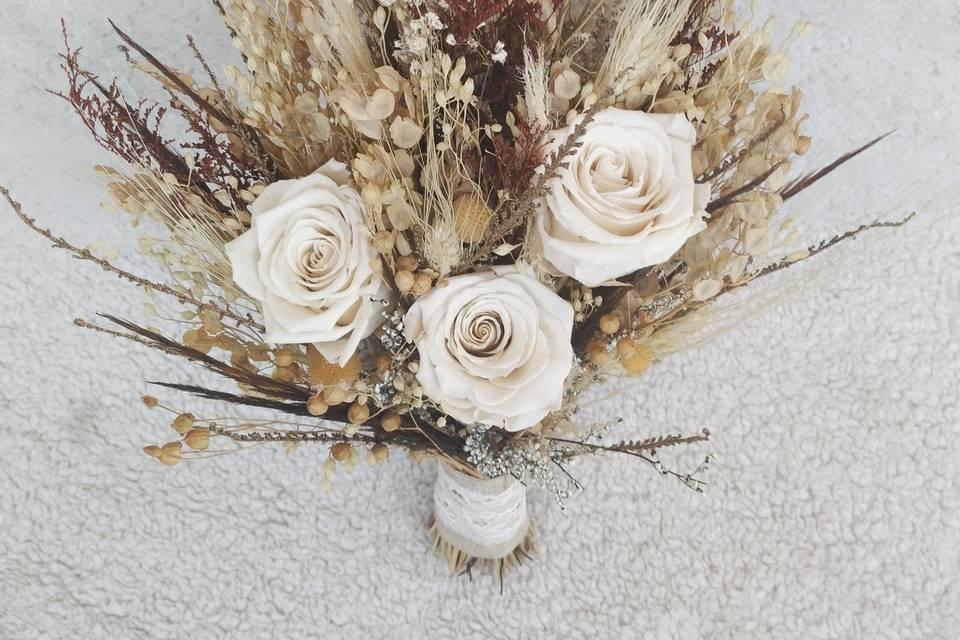 Bouquet rosas preservadas